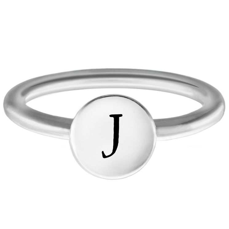 Chamilia Sterling Silver J Alphabet Disc Ring Small - Product number 4947592