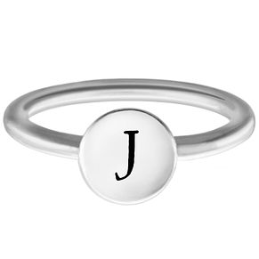 Chamilia Sterling Silver J Alphabet Disc Ring Extra Large - Product number 4947622