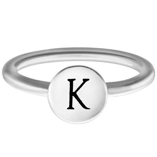 Chamilia Sterling Silver K Alphabet Disc Ring Small - Product number 4947649