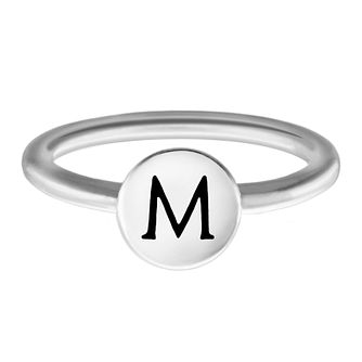 Chamilia Sterling Silver M Alphabet Disc Ring Size J - Product number 4947886