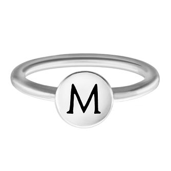 Chamilia Sterling Silver M Alphabet Disc Ring Small - Product number 4947894