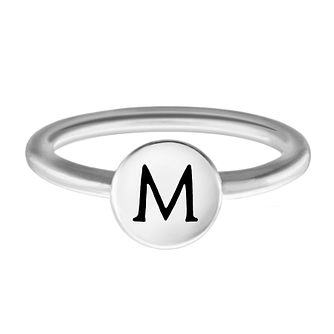 Chamilia Sterling Silver M Alphabet Disc Ring Medium - Product number 4947908