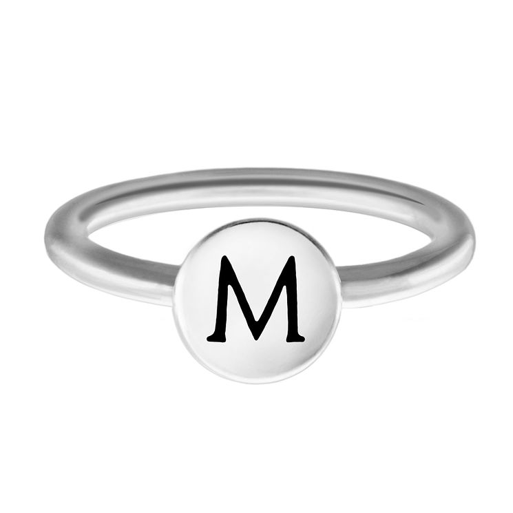 Chamilia Sterling Silver M Alphabet Disc Ring Size R - Product number 4948041
