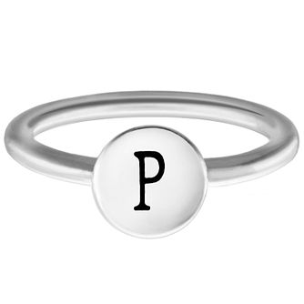 Chamilia Sterling Silver P Alphabet Disc Ring Size N - Product number 4948874