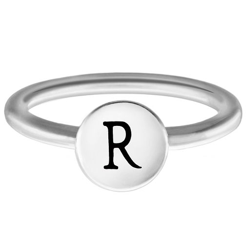 Chamilia Sterling Silver R Alphabet Disc Ring Extra Small - Product number 4948963