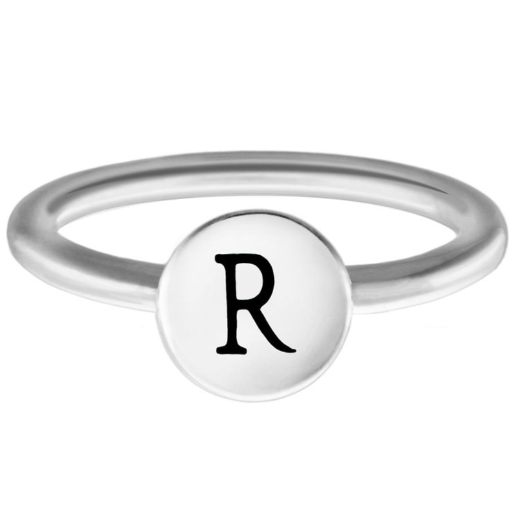 Chamilia Sterling Silver R Alphabet Disc Ring Large - Product number 4949137