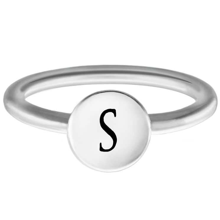 Chamilia Sterling Silver S Alphabet Disc Ring Large - Product number 4949196