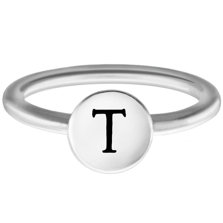 Chamilia Sterling Silver T Alphabet Disc Ring Small - Product number 4949234