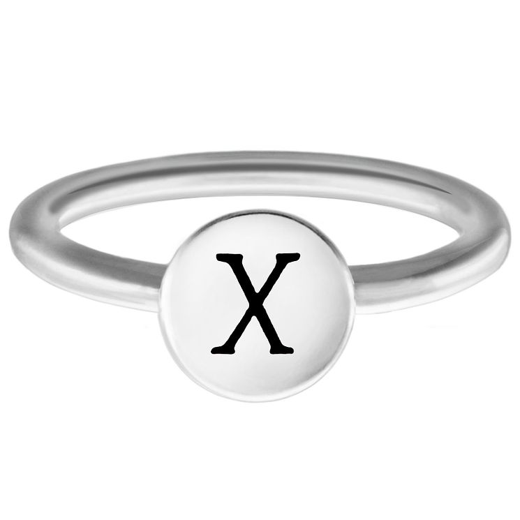Chamilia Sterling Silver X Alphabet Disc Ring Small - Product number 4949587