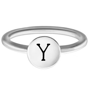 Chamilia Sterling Silver Y Alphabet Disc Ring Medium - Product number 4949641