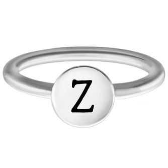 Chamilia Sterling Silver Z Alphabet Disc Ring Size J - Product number 4949684