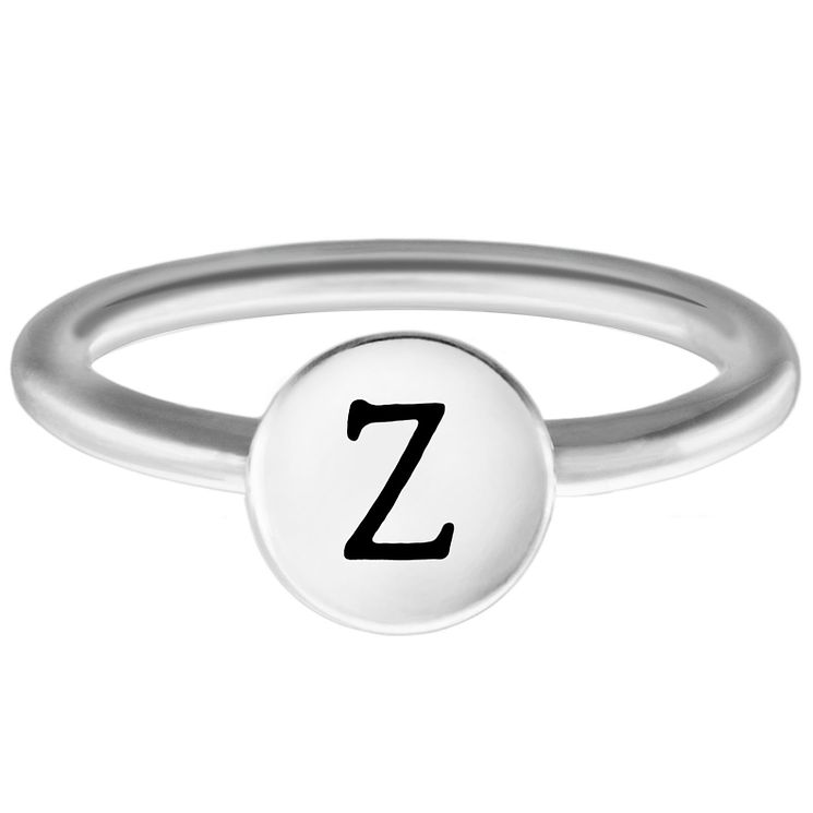 Chamilia Sterling Silver Z Alphabet Disc Ring Size L - Product number 4949692