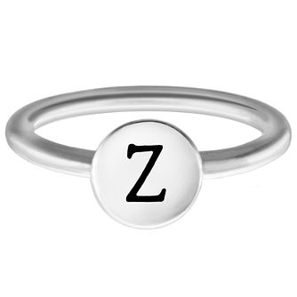 Chamilia Sterling Silver Z Alphabet Disc Ring Extra Large - Product number 4949722