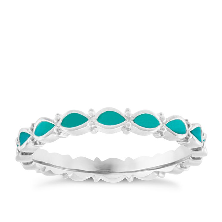 Chamilia Sterling Silver Endless Teal Ring Small - Product number 4949919