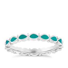 Chamilia Sterling Silver Endless Teal Ring Extra Large - Product number 4949943