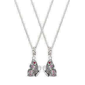 Chamilia Sterling Silver Mother Daughter Butterfly Necklaces - Product number 4949951
