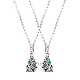Chamilia Sterling Silver Best Friends Butterfly Necklaces - Product number 4949978