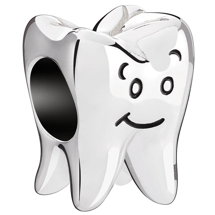 Chamilia Sterling Silver & Black Enamel Wisdom Tooth Bead - Product number 4950518