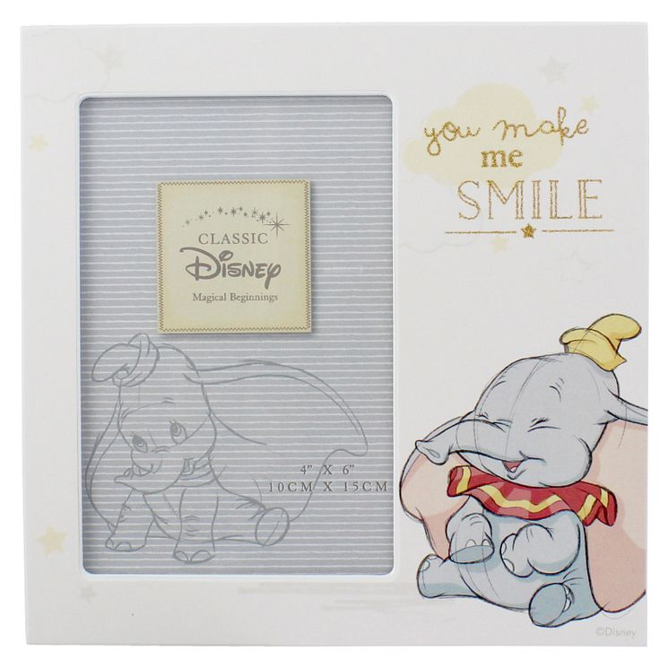 "Disney Baby Dumbo 'You Make Me Smile' Photo Frame 4"" x 6"" - Product number 4951980"