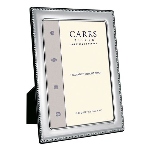 "Carrs Sterling Silver 6""x4"" Beaded Trim Photo Frame - Product number 4955277"