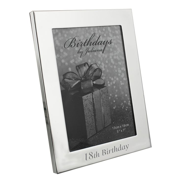 "18th Birthday Silver Plated Photo frame 5"" x 7"" - Product number 4955374"