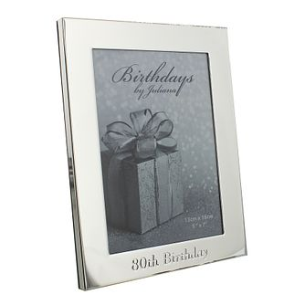 "80th Birthday Silver Plated Photo frame 5"" x 7"" - Product number 4955420"