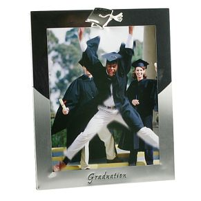 "Silver Plated Graduation Photo Frame 8"" x 10"" - Product number 4955579"