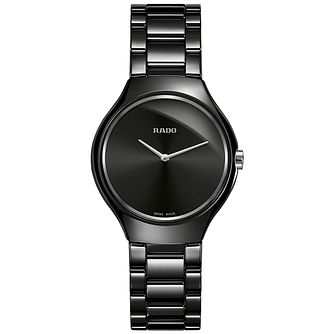 Rado True Ladies' Black Ceramic Bracelet Watch - Product number 4956923