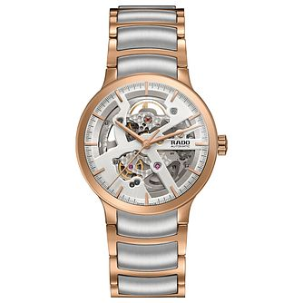 Rado Men's Rose Gold Plated Two Colour Bracelet Watch - Product number 4957490