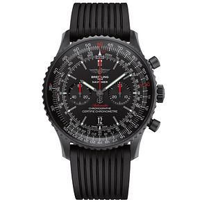 Breitling Navitimer Men's Black Ion Plated Strap Watch - Product number 4958810