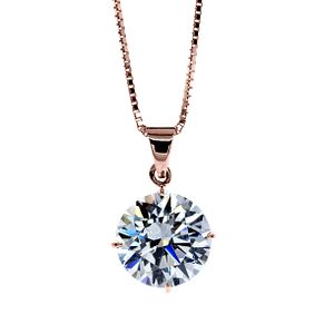CARAT* LONDON 9ct Rose Gold Stone Set Pendant - Product number 4958942
