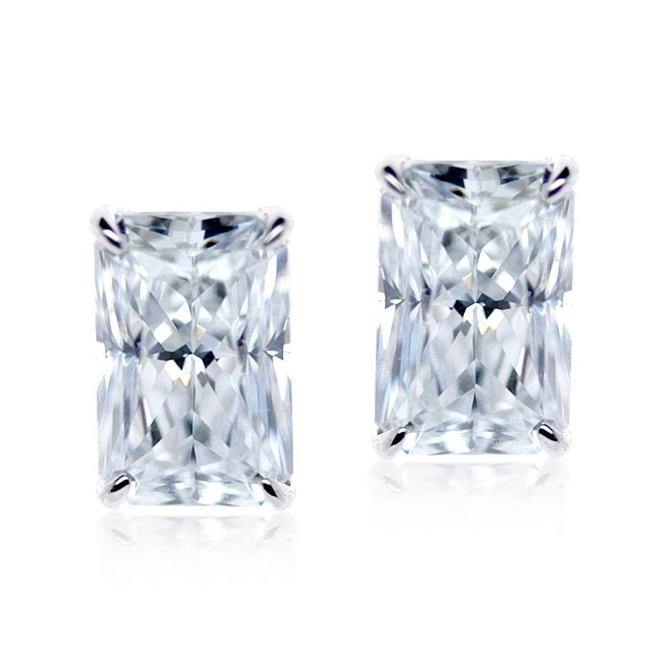 Carat 9ct White Gold Stone Set Studs - Product number 4958977