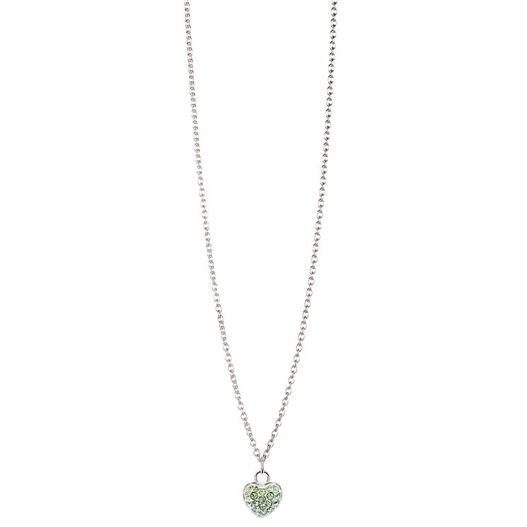 Chamilia Sterling Silver Petite Pave August Heart Necklace - Product number 4960513