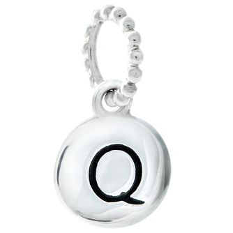 Chamilia Sterling Silver Alphabet Disc Charm Q - Product number 4960750