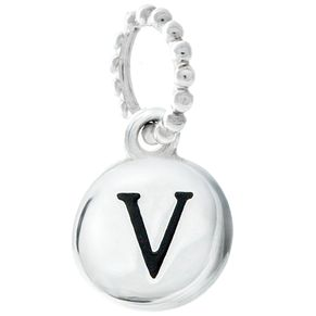 Chamilia Sterling Silver Alphabet Disc Charm V - Product number 4960807