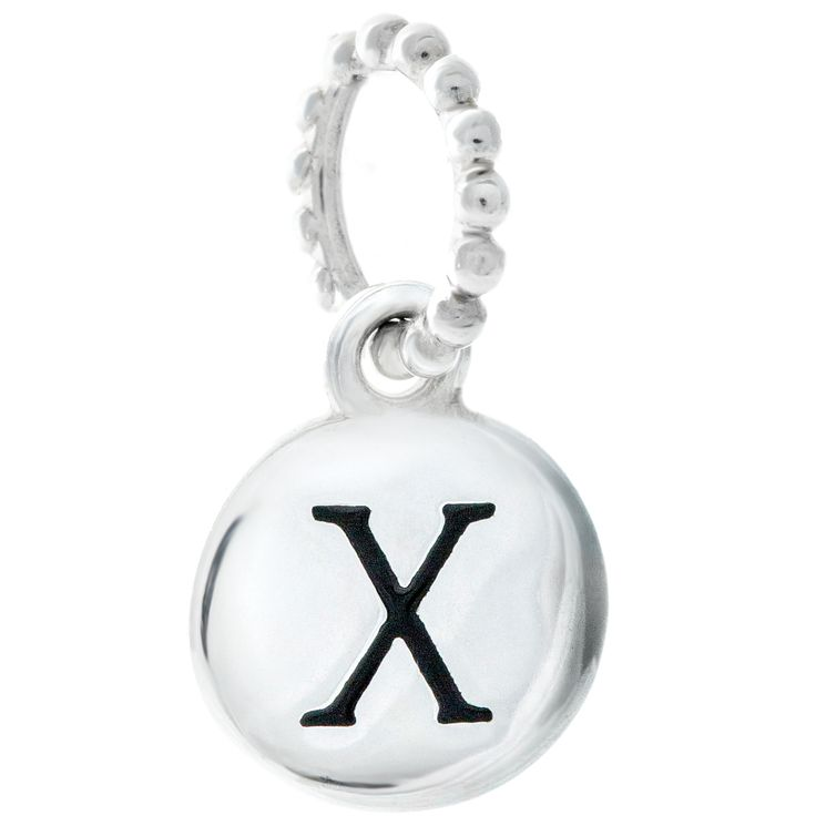 Chamilia Sterling Silver Alphabet Disc Charm X - Product number 4960823