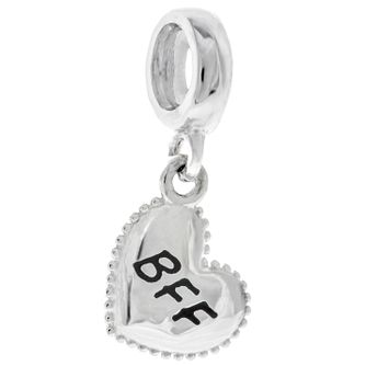 Chamilia Sterling Silver BFF Petite Millegrain Heart Charm - Product number 4961137