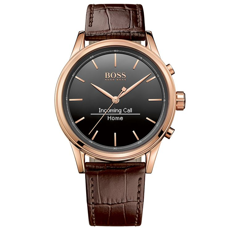 Hugo Boss Men's Rose Gold Plated Smart Watch - Product number 4966503
