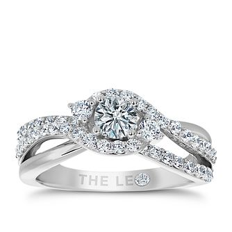 Leo Diamond 18ct White Gold 1ct Diamond Ring - Product number 4968905