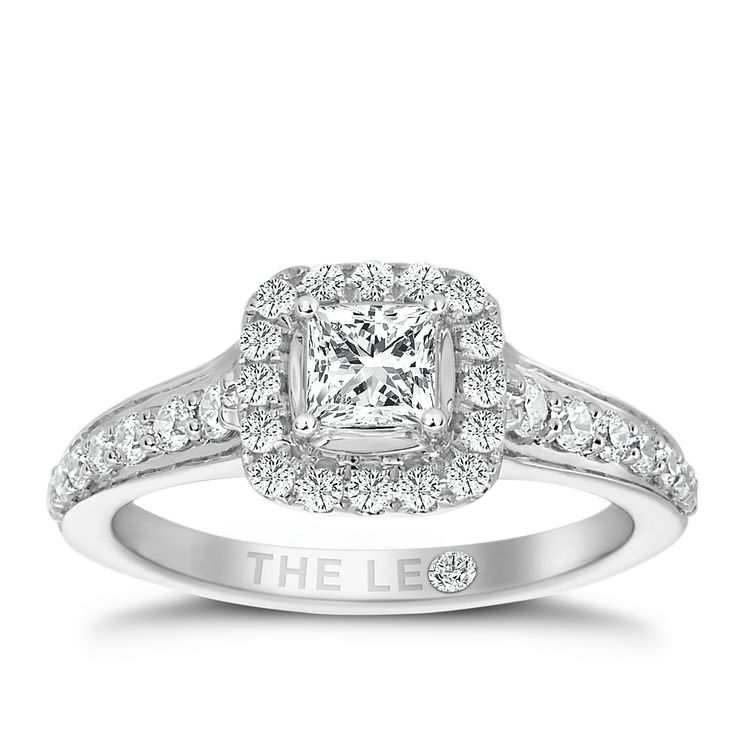 Leo Diamond 18ct White Gold 0.75ct II1 Diamond  Halo Ring - Product number 4969170