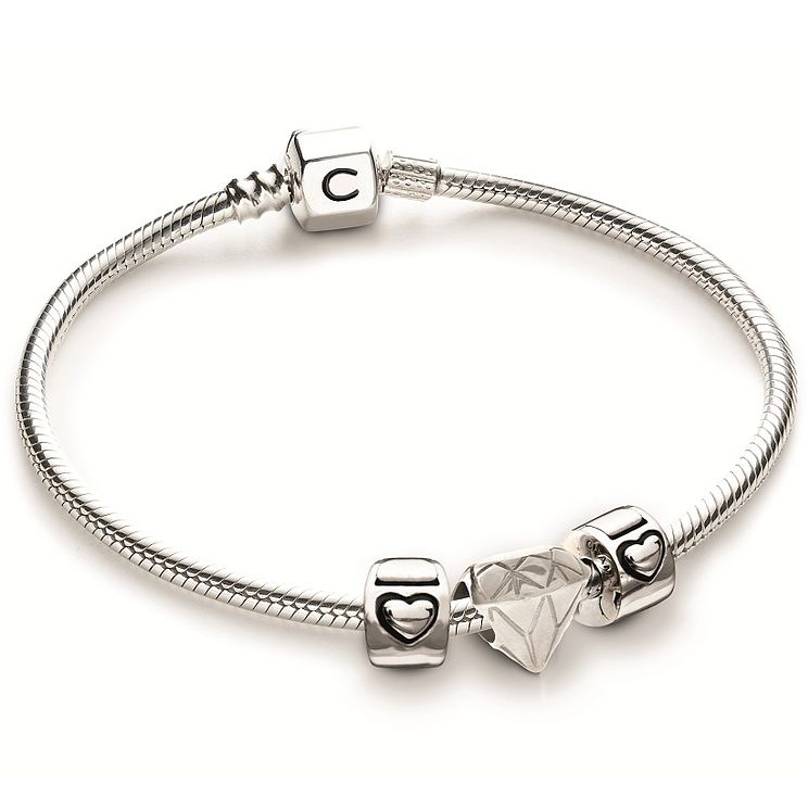 Chamilia Sterling Silver Fancy Cut Lock Bracelet Set - Product number 4969448