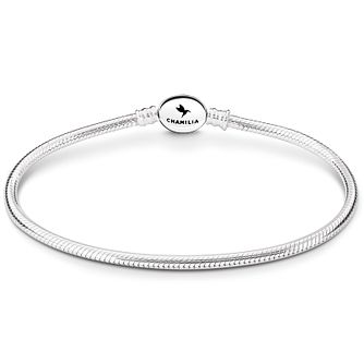 "Chamilia Sterling Silver Oval Snap 7.5"" Bracelet - Product number 4969480"