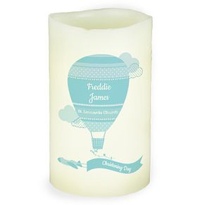 Personalised Up & Away Boys LED Candle - Product number 4969952