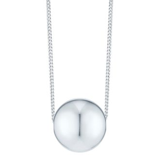 Sterling Silver 10mm Ball Necklace - Product number 4975413