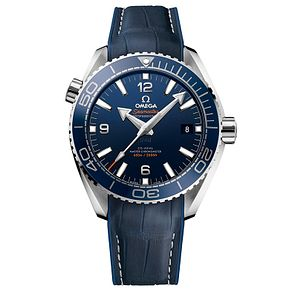 Omega Seamaster Planet Ocean 600m Men's Leather Strap Watch - Product number 4981456