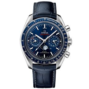 Omega Speedmaster Men's Blue Leather Strap Watch - Product number 4981561