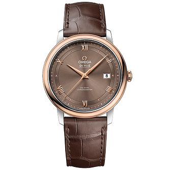 Omega De Ville Prestige Men's Two Colour Strap Watch - Product number 4981642