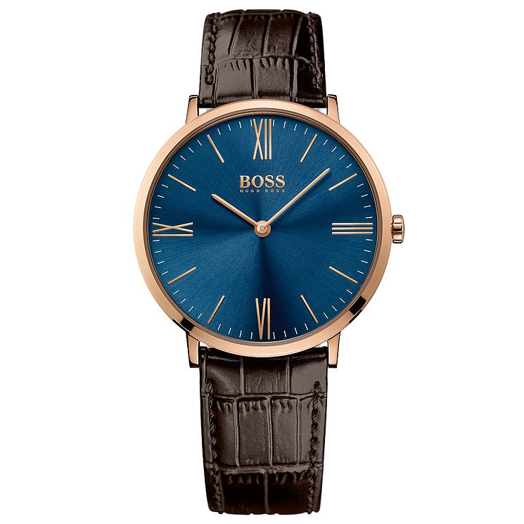 Hugo Boss Men's Rose Gold Plated Strap Watch - Product number 4985230
