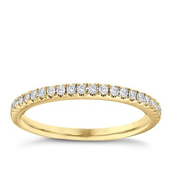 Vera Wang 18ct yellow Gold 0.23ct Diamond Wedding Band - Product number 4987128