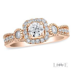 Vera Wang 18ct rose gold 0.70CT diamond engagement ring - Product number 4990625